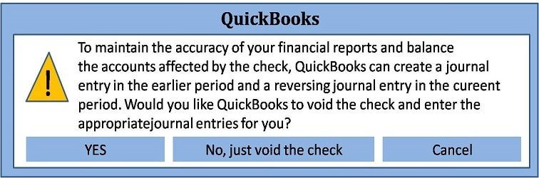 Void and Reissue Check-in QuickBooks