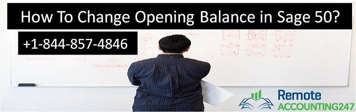 How to Change Opening Balance In Sage 50