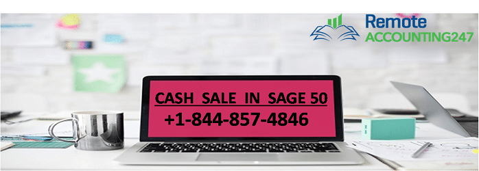 cash sale in sage 50