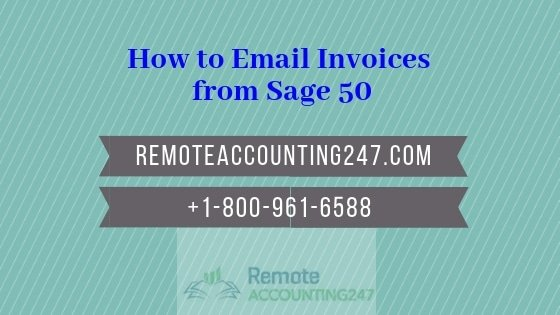 How to Email Invoices from Sage 50