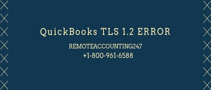 QuickBooks TLS 1.2 Error