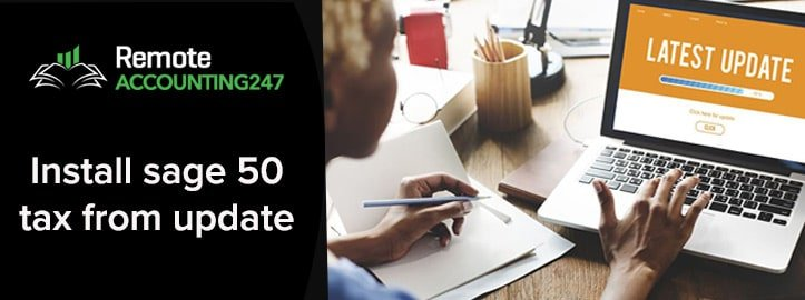 Install Sage 50 Tax From Update