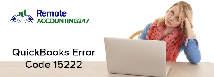 QuickBooks Error Code 15222