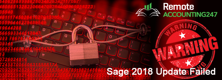 Sage 2018 Update Failed